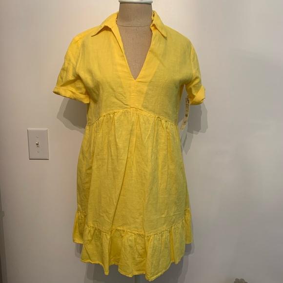 Zara Dresses & Skirts - Zara Linen Yellow Dress